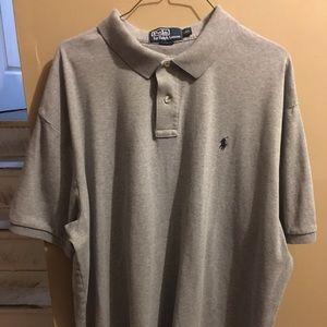 Men gray Ralph Lauren polo shirt